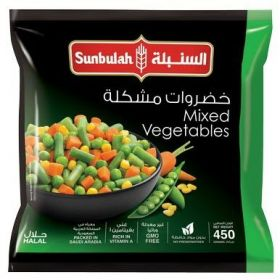 Sunbulah Frozen Mixed Vegetables 450Gm
