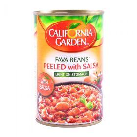 California Garden Fava Beans Peeled With Salsa 450Gm