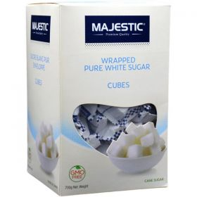 Majestic Wrapped Pure White Sugar Cubes 700Gm