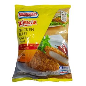Americana Zingz Chicken Fillet Hot And Crunchy 1Kg