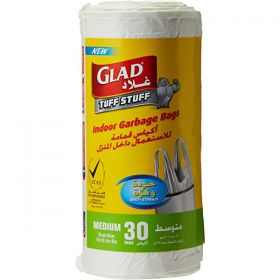 Glad Indoor Garbage Bag 55 X 60 Cm 30 Bags