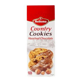Hellema Country Cookies Hazelnut Chocolate 175Gm