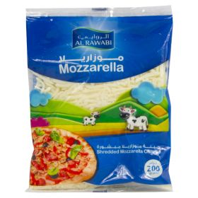 Al Rawabi Mozzarella Cheese (Shredded ) 200Gm