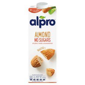 Alpro Roasted Almond No Sugars Milk 1Litre