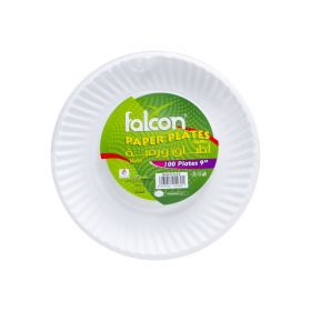 "Falcon Paper Plates 9 "" 100 Pcs"
