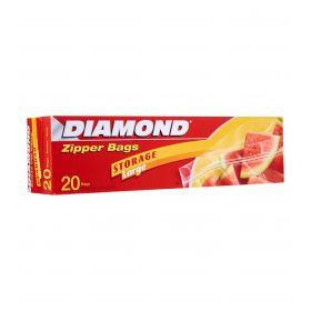 Diamond Zipper Bags 27.5 Cm* 26.8 Cm 20 Bags