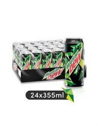 Mountain Dew Carbonated Soft Drink Can 24 X 325Ml