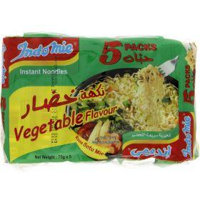 Indomie Instant Noodles Vegetable Flavour 75g x 5 Packets