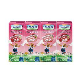 Lacnor Essentials Strawberry Fruit Drink 8 X 180Ml
