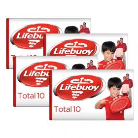 Lifebuoy Total Soap 160 Gm x 4 Pcs