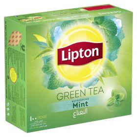 Lipton Green Tea Mint 100pcs Tea Bags