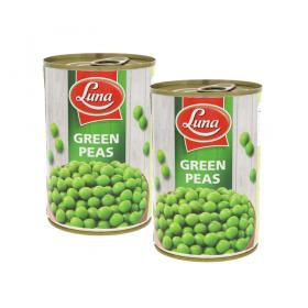 Luna Green Peas 2 x 400g