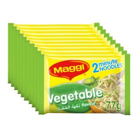 Maggi 2 Minutes Noodles Vegetables 10 X 77g