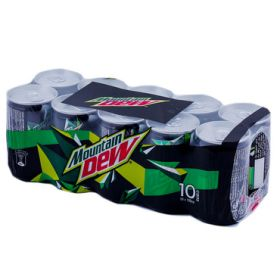 Mountain Dew Carbonated Soft Drink Can 10 X 150Ml