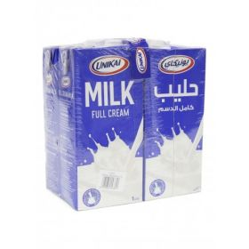 Unikai Long Life Milk 4 x 1 ltr