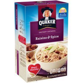 Quaker Instant Oatmeal Raisins And Spice 430g