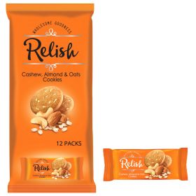 Relish Cashew Almonds & Oats Cookies 12 x 42g