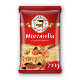 The Three Cows Mozzarella Cheese (Shredded) 200Gm