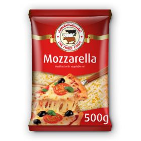 The Three Cows Mozzarella Cheese (Shredded) 500Gm