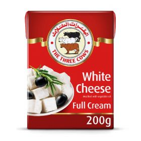 The Three Cows White Cheese Full Cream 200Gm