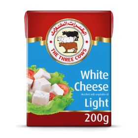 The Three Cows White Cheese Light 200Gm