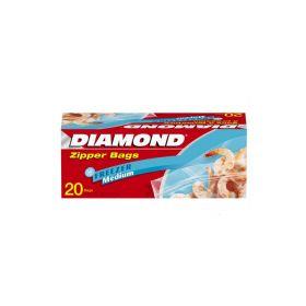 Diamond Zipper Bags 20.3Cm x 17 x 7Cm 20 Bags