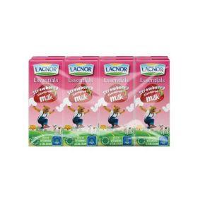 Lacnor Essentials Strawberry Flavoured Milk 6 X 125Ml