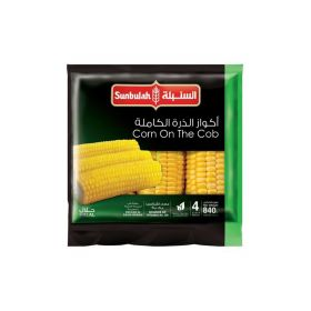 Sunbulah Frozen Corn On The Cob 840 Gm