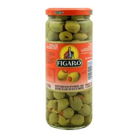 Figaro Stuffed Green Olives With Pimiento Paste 450Gm