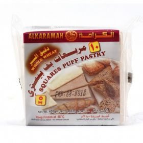 Alkaramah Squares Puff Pastry Whole Wheat 400Gm