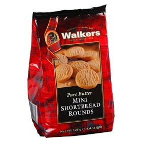 Walkers Pure Butter Mini Shortbread Rounds 125Gm