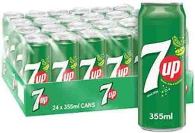 7 Up Carbonated Soft Drink Can 24 X 325Ml