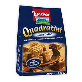 Loacker Quadratini Chocolate 250Gm