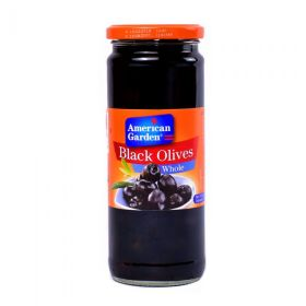 American Garden Black Olives Whole 450Gm