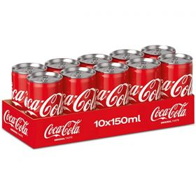 Coca Cola Carbonated Soft Drink 10 X 150Ml