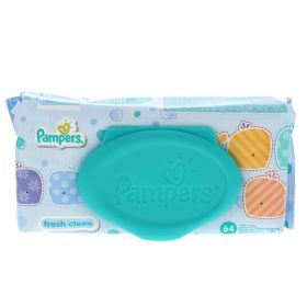 Pampers Fresh Clean Baby Wipes, 64 Count