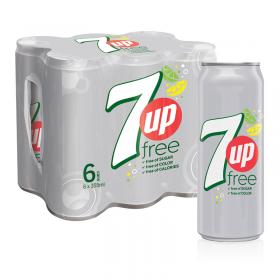 7UP sugar free 325 ml x 6