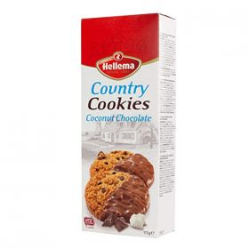 Hellema Country Cookies Coconut Chocolate 175Gm