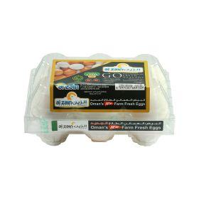Al Zain Oman's Farm Fresh White Eggs 6pcs