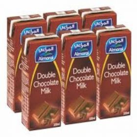 Almarai Uht Double Chocolate Milk 6 X 200Ml