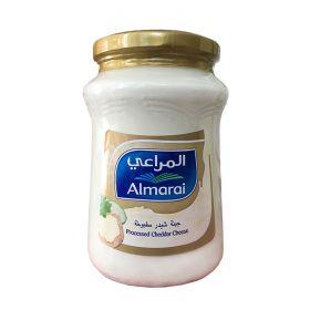 Almarai processed cheddar cheese, in  a glass jar, 500gm.