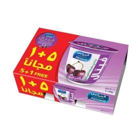 Almarai Layered Black Cherry Yoghurt 5 + 1 X 140 Gm