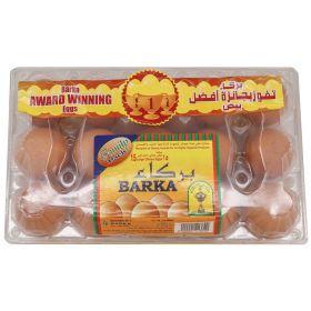 Barka Omani Brown Eggs Large 15pcs