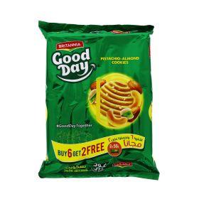 Britannia Good Day Pista Almond Cookies 8 x 81g