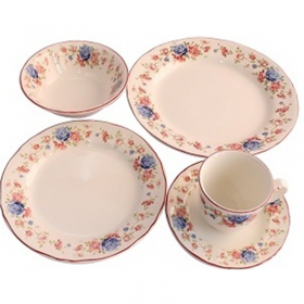 Claytan Cottage Roses 20 Pcs Dinner Set