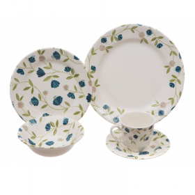 Claytan Elegent Floral Dinner Set 30 Pc