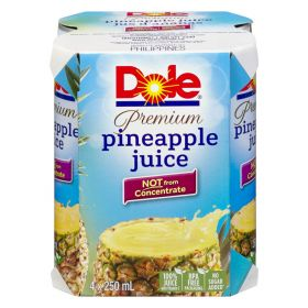 Dole Pineapple Juice 4 X 250 Ml