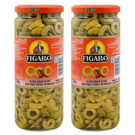 Figaro Sliced Green Olives 2 x 230 Gm