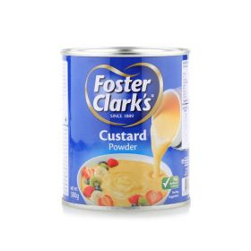 Foster clarks custard powder, 300g, tin packed.