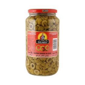 Figaro Sliced Green Olives 480Gm